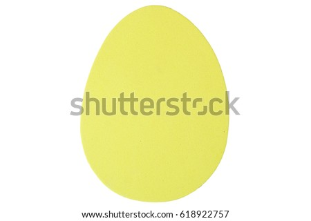 Yellow easter egg. #618922757