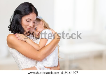 Mother and Daughter. Happy Family #619164407