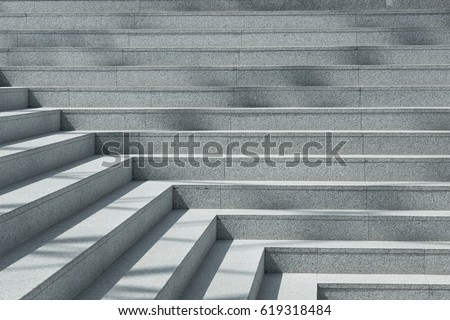 Abstract stairs in black and white, abstract steps, stairs in the city, granite stairs,wIde stone stairway often seen on monuments and landmarks,wide stone stairs, steps,black and white photo,diagonal #619318484