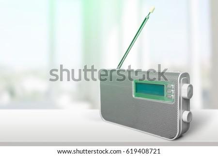 Radio on the desk. #619408721