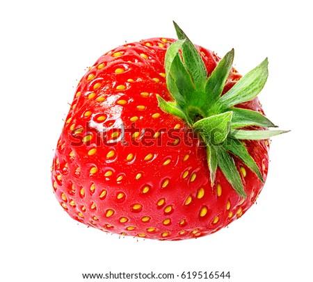 Strawberry on white background #619516544