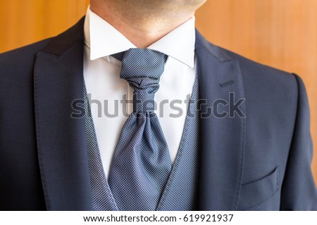 boutonniere in tuxedo lapel #619921937