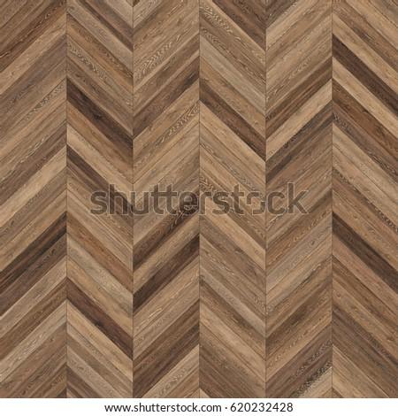 Hires seamless wood parquet texture (chevron brown)