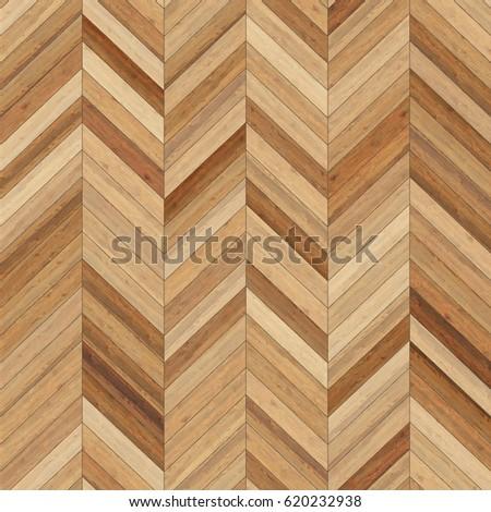 Hires seamless wood parquet texture (chevron light brown)