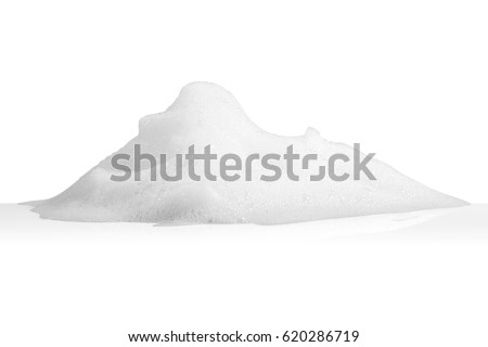 white foam bubbles texture isolated on white background Royalty-Free Stock Photo #620286719