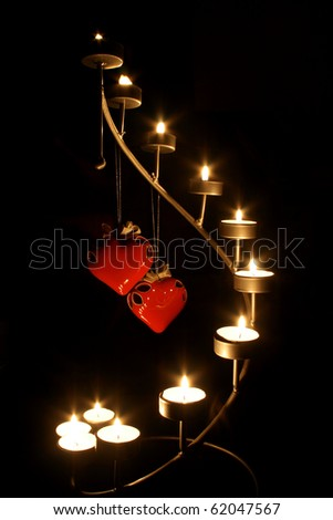 two hearts stand the candleholder candlelight #62047567
