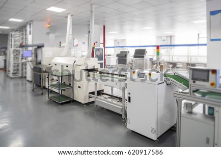 China Huzhou, Zhejiang, March 22, 2017 Huzhou display led manufacturing plant in the laboratory research and development machine production lines. #620917586