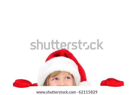 Cute little Santa helper