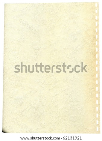 Old page from a notebook isolated on white background #62131921