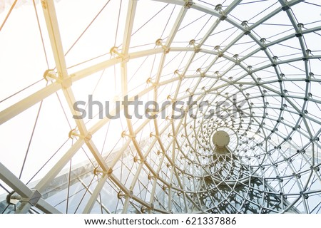 building construction of metal steel framework outdoors Royalty-Free Stock Photo #621337886