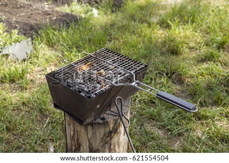 Barbecue in the brazier #621554504