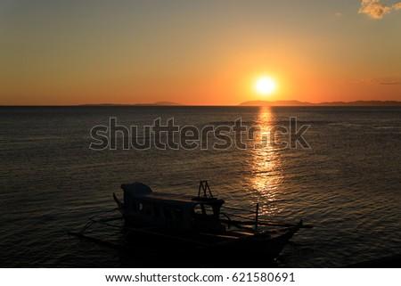 Sunset in Anilao, Batangas, Philippines #621580691