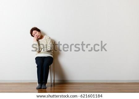 Shooting in the room, Asian senior women #621601184