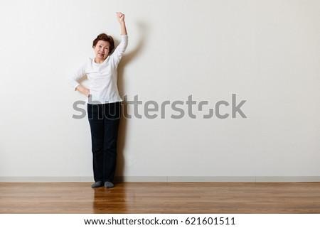 Shooting in the room, Asian senior women #621601511