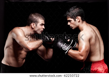Mixed martial artists before a fight Royalty-Free Stock Photo #62210722