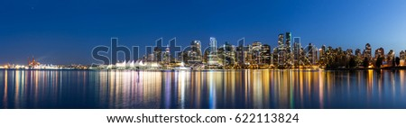 panoramic view of downtown Vancouver