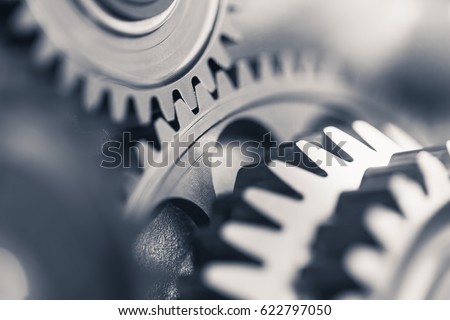 engine gear wheels, industrial background Royalty-Free Stock Photo #622797050