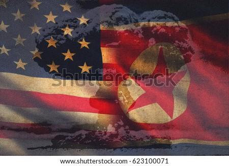 USA vs. North Korea - graphic concept #623100071