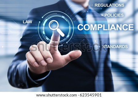 Compliance Rules Law Regulation Policy Business Technology concept #623545901