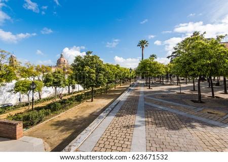 Streets and architecture in Jerez de la Frontera,Spain #623671532