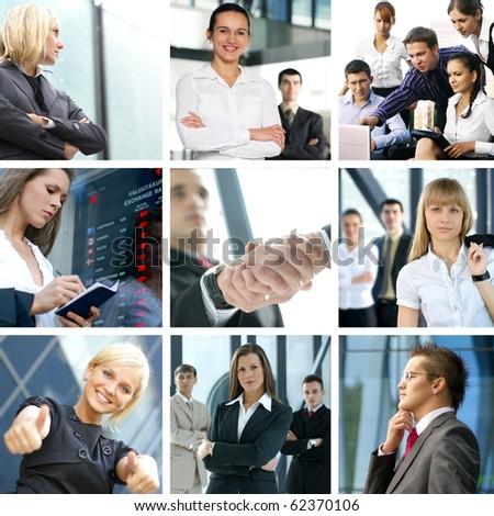 Business collage made of nine business pictures #62370106