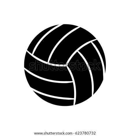 contour ball to play volleyball icon
