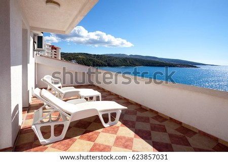 Terrace with a sea view #623857031