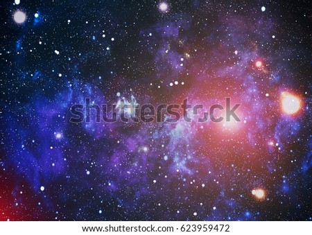Space background with gas nebula and stars.  #623959472