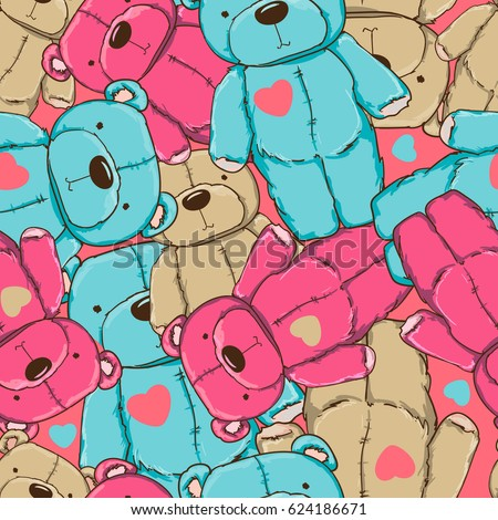 pattern seamless with colored bears