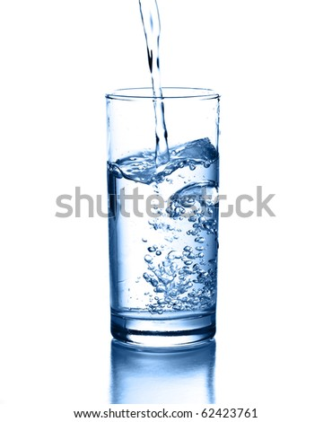 pouring water isolated on a white background #62423761