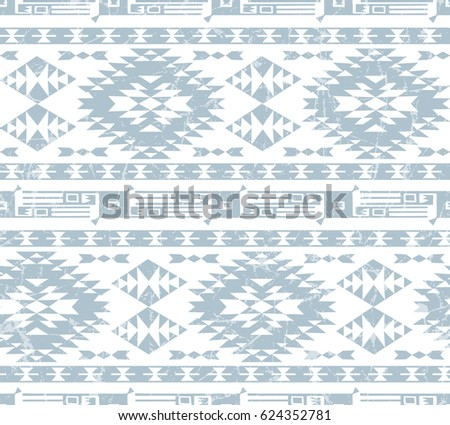 Vector seamless decorative ethnic pattern. American indian motifs. Background with aztec tribal ornament. pale gamma. Aztec. Pattern.