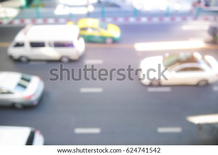 Picture blurred  for background abstract and can be illustration to article of traffic #624741542