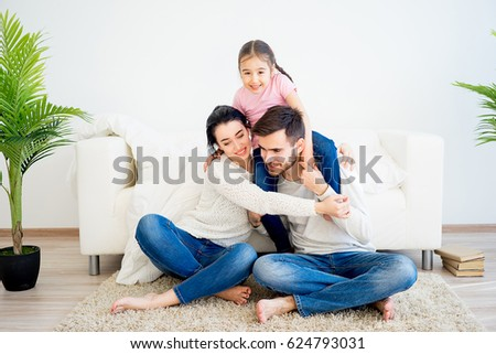 Family playing at home #624793031