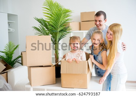 Family moving into new home #624793187