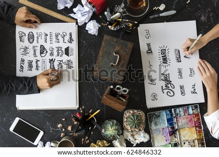 Calligraphy Design Typography Workplace #624846332