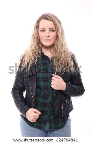 Portrait of a beautiful caucasian woman  #624904841