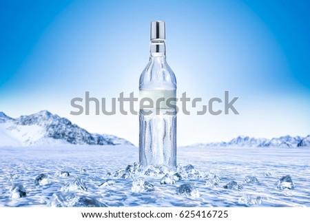 Vodka and ice  #625416725