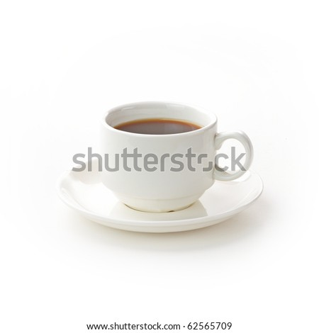 Cup of coffee isolated on white background #62565709