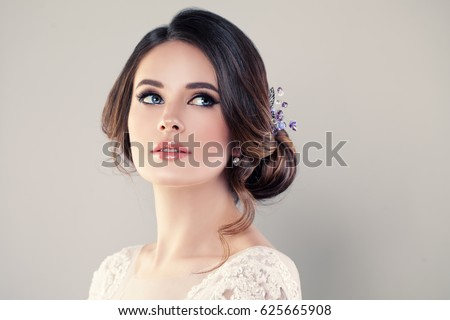 Perfect Fashion Model Woman with Beautiful Hairstyle. Prom or Bride Girl Royalty-Free Stock Photo #625665908