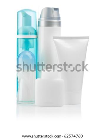 blue and white bottles #62574760