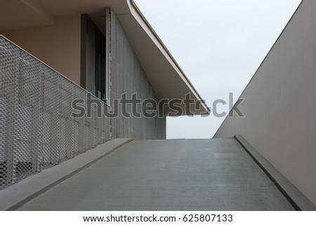 April 13th, 2017, Coimbra, Portugal - Monastery of Santa Clara-a-Nova, access ramp. #625807133