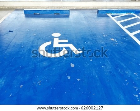 Parking for the disabled at hospital.  #626002127