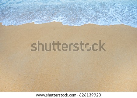 Soft Wave Of Ocean On Sandy Beach. Background. Selective #626139920