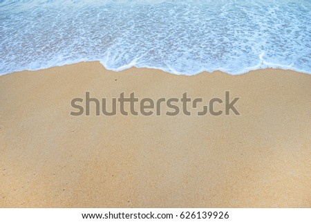 Soft Wave Of Ocean On Sandy Beach. Background. Selective #626139926