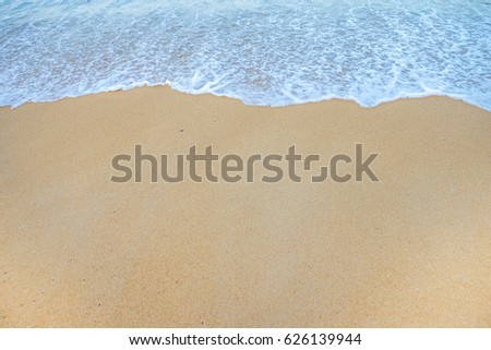 Soft Wave Of Ocean On Sandy Beach. Background. Selective #626139944
