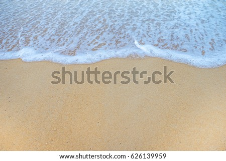Soft Wave Of Ocean On Sandy Beach. Background. Selective #626139959