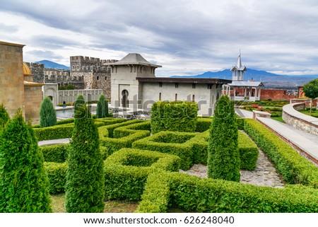 Akhaltsikhe, Georgia - September 29, 2016: Rabati Castle complex. Built in the 9th century #626248040
