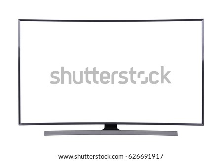 LED TV with blank screen isolated on white background (with clipping path) #626691917