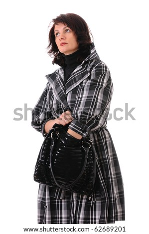 woman with bag isolated on white background #62689201