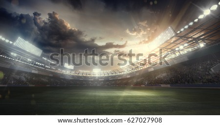 Sport Backgrounds.  Soccer stadium.  Royalty-Free Stock Photo #627027908